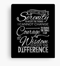 Serenity Prayer - Chalkboard Canvas Print