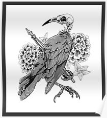 Grackle and Ink Poster