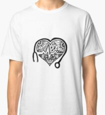 Camiseta clásica Zentangle Nursing Heart