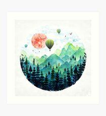 Roundscape Art Print