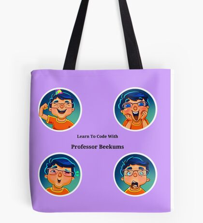 Four Faces of Professor Beekums Tote Bag
