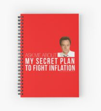 Josh Lyman Tee - Secret Plan to Fight Inflation Spiral Notebook