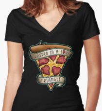 Trapped Women's Fitted V-Neck T-Shirt