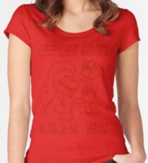Cheep Cheep Garden's Women's Fitted Scoop T-Shirt