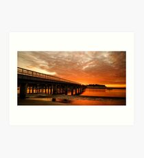 Red Water of the Barwon Art Print