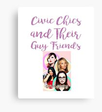 Civic Chics and Their Guy Friends Canvas Print