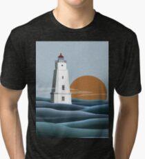 Chequamegon Lighthouse Tri-blend T-Shirt