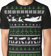 Christmas - C 130 Ugly Christmas Graphic T-Shirt