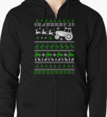 Christmas - Farmer Ugly Christmas Zipped Hoodie