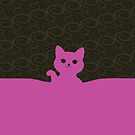 Kawaii waving kitty by Tanya Wheeler Varga