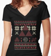 Christmas - For Legend Of Zelda Women's Fitted V-Neck T-Shirt