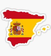 Pegatina Mapa de la bandera de España