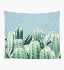 Cactus & Teal #redbubble #lifestyle Wall Tapestry