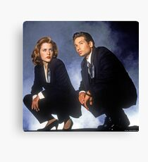 X Files // Scully & Mulder Canvas Print