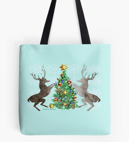 2 Reindeer (650 Views) Tote Bag
