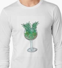 wine glass terrarium Long Sleeve T-Shirt
