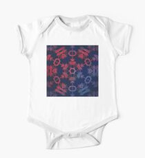 Blue and red glow mandala Kids Clothes