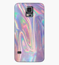 Holographische Wellen in Lila Hülle & Skin für Samsung Galaxy