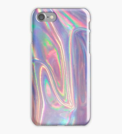 Holographic waves in purple iPhone Case/Skin