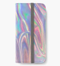 Holographic waves in purple iPhone Wallet/Case/Skin
