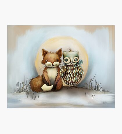 fox and owl Photographic Print