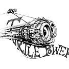 Inktober 1 Turtlepower by Tom Godfrey