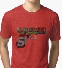Armed and Dangerous Tri-blend T-Shirt