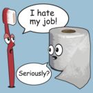 Funny Sayings - I hate my job by robotface