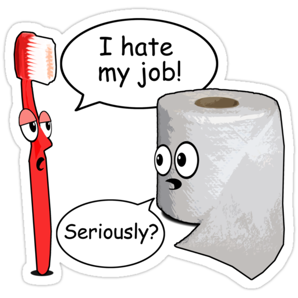 Quot Funny Sayings I Hate My Job Quot Stickers By Robotface