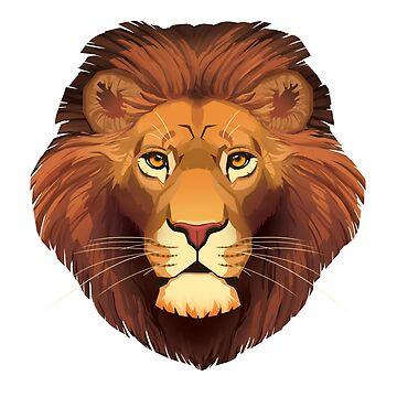 Lion Face by PaulaLucas