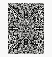 Black & White Folk Art Pattern Photographic Print