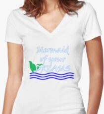 Mermaid Of Your Dreams (White) Women's Fitted V-Neck T-Shirt