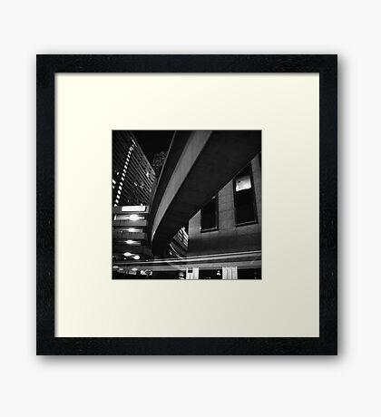 Times Square Detroit Framed Print