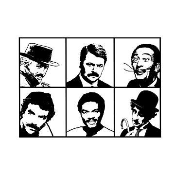 Mustachio Men by sketchie