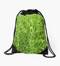 long green grass background Drawstring Bag