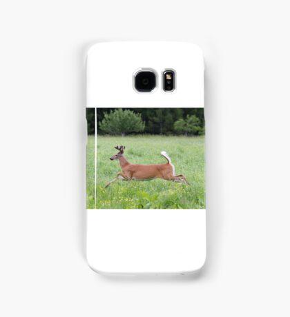 White-tailed deer in flight Samsung Galaxy Case/Skin
