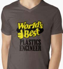 Worlds best Plastics engineer Men's V-Neck T-Shirt