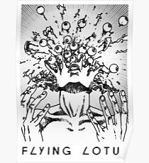Flying Lotus Eyes Above Poster