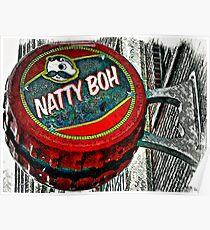 Natty Boh Bottle Cap Sign, Canton, Baltimore Poster
