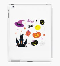 Halloween icons set isolated on white / Halloween mix for kids iPad Case/Skin