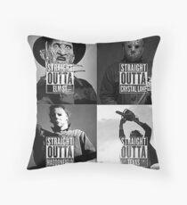 straight outta horror film Throw Pillow