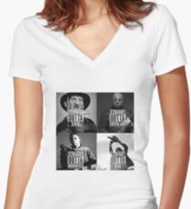 straight outta horror film Women's Fitted V-Neck T-Shirt