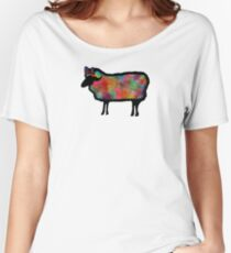 Psychedelic Black Sheep Women's Relaxed Fit T-Shirt