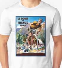 TOUR DE FRANCE; Vintage Bicycle Racing Advertising Print Unisex T-Shirt