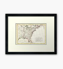 Thirteen Colonies Vintage Map (1776) Framed Print