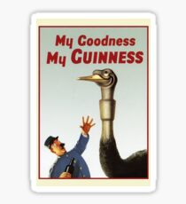 Vintage Guinness Ad Beer  Sticker