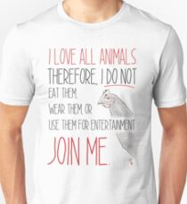 Love All Animals - White T-Shirt