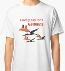 Vintage Guinness Beer Ad Toucans Classic T-Shirt