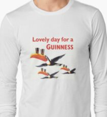 Vintage Guinness Beer Ad Toucans Long Sleeve T-Shirt