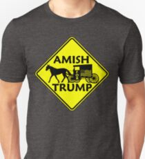 Amish For Trump Political Buggy Sign T-Shirt